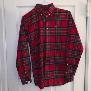 Boys Jolly Plaid Flannel Whale shirt